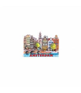 12 stuks Magneet 2D MDF compilatie gracht Amsterdam