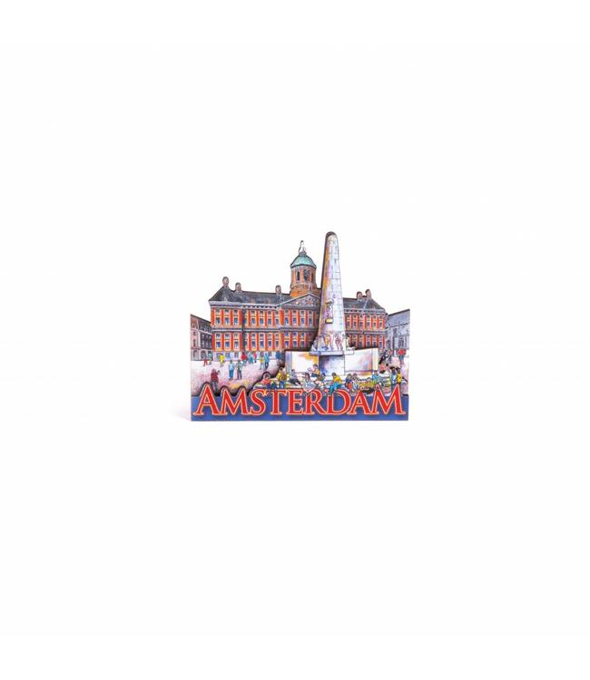 12 stuks Magneet 2D MDF compilatie Damplein Amsterdam
