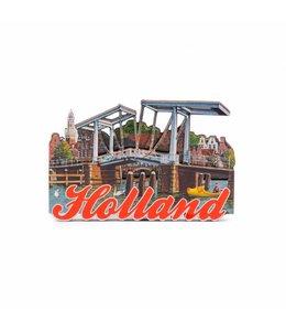 12 stuks Magneet 2D MDF ophaalbrug Haarlem
