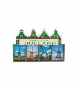 12 stuks Magneet 2D MDF windmills of Holland