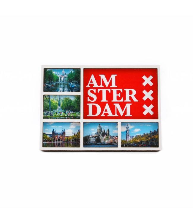 12 stuks Magneet 2D MDF compilatie Amsterdam