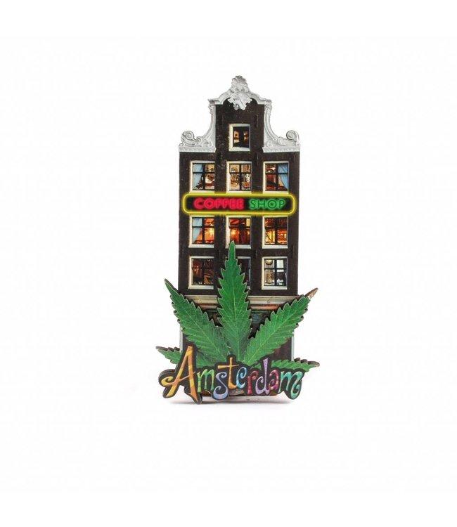 12 stuks Magneet 2D MDF coffeeshop Amsterdam
