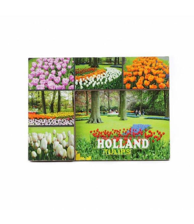 12 stuks Magneet 2D MDF tulpen Holland