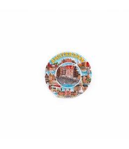 12 stuks Magneet keramiek color mix gracht Amsterdam