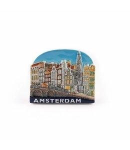 12 stuks Magneet keramiek brug color Amsterdam
