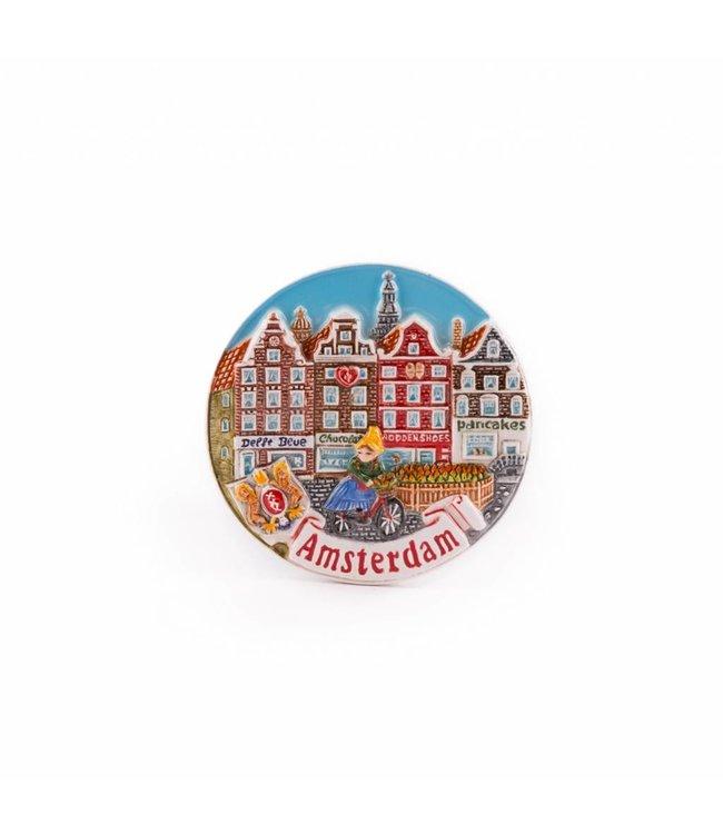 12 stuks Magneet keramiek color gracht Amsterdam
