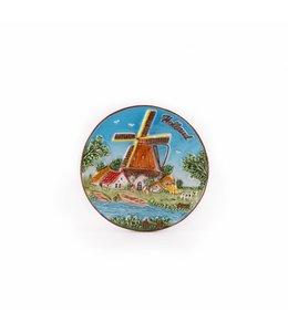 12 stuks Magneet keramiek color molen Holland