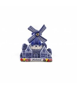 12 stuks Magneet keramiek stellingmolen delftsblauw Holland