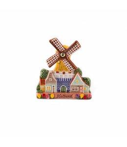 12 stuks Magneet keramiek stellingmolen color Holland