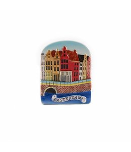 12 stuks Magneet keramiek gracht color Amsterdam