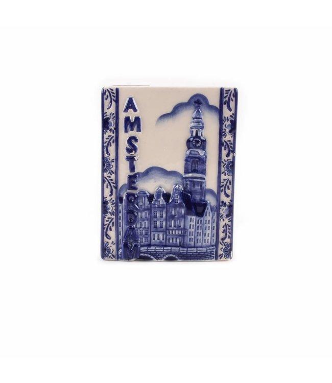 12 stuks Magneet delftsblauw tegel Amsterdam