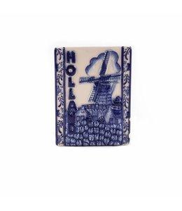 12 stuks Magneet keramiek delftsblauw tegel Holland
