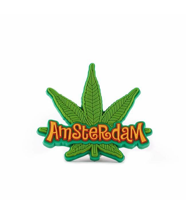 12 stuks Magneet weedblad Amsterdam