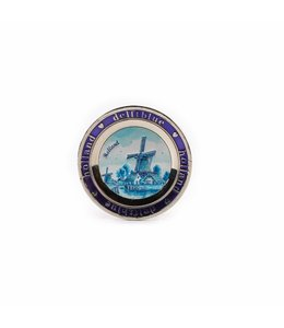 12 stuks Magneet metaal bordje delftsblauw Holland