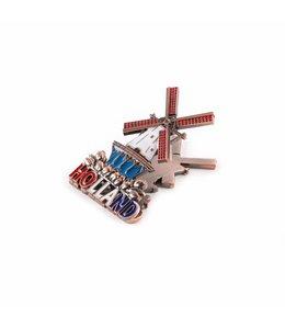 12 stuks Magneetclip metaal molen koper Holland