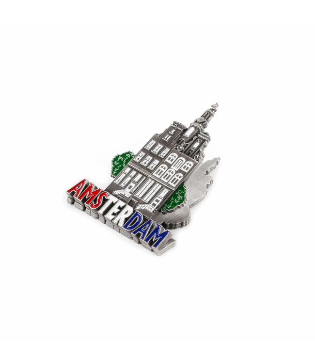 12 stuks Magneetclip metaal grachten tin Amsterdam