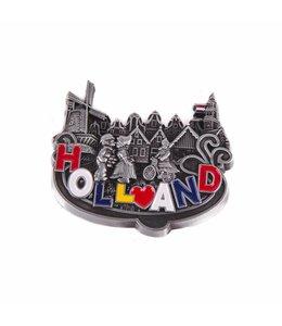 12 stuks magneet metaal hart Holland tin