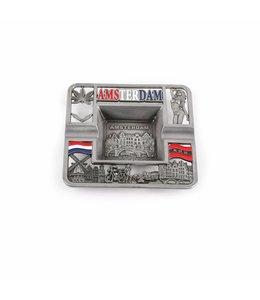 Asbak vierkant Amsterdam compilatie tin