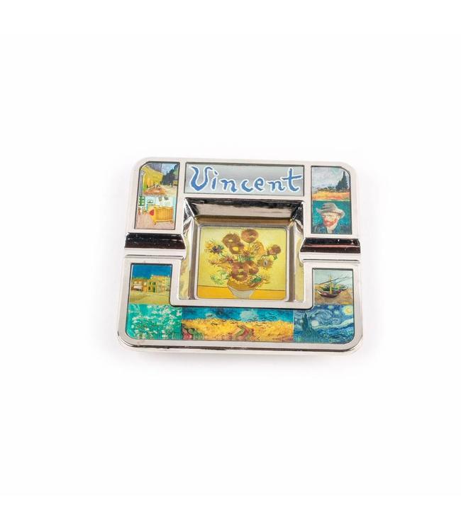 Asbak vierkant compilatie Van Gogh