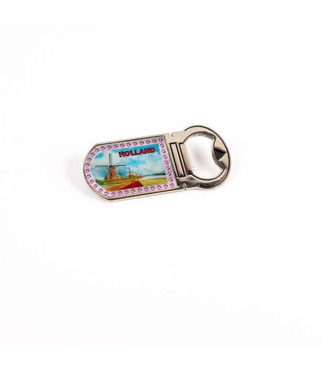 12 stuks Opener magneet dorpstafereel shiny Holland