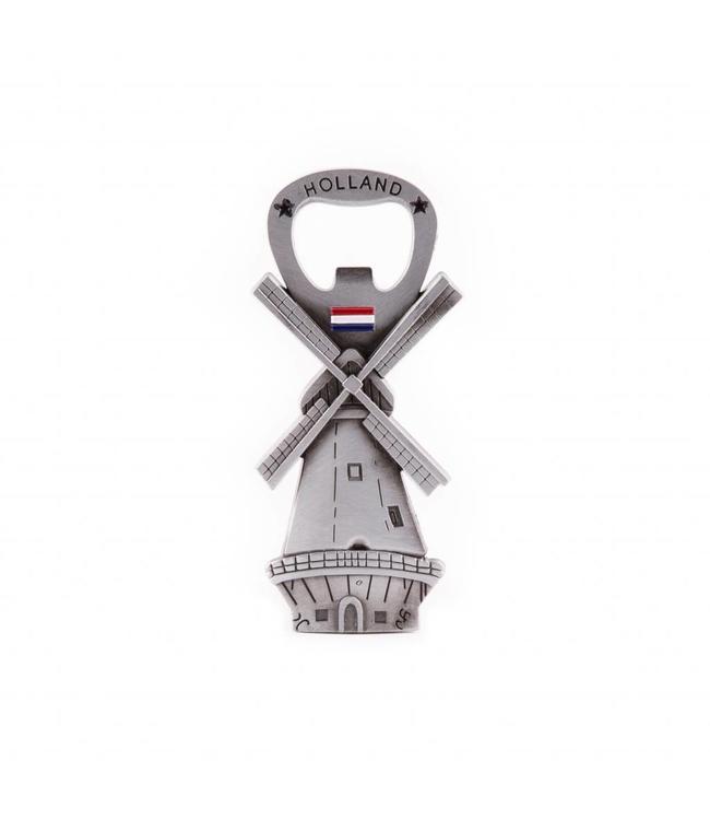 12 stuks Opener magneet molen Holland tin
