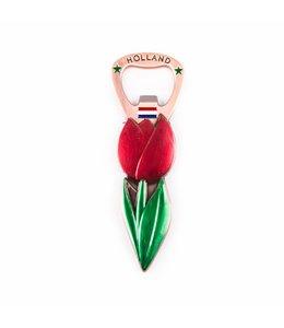 12 stuks Opener magneet tulp rood