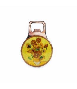 12 stuks Opener magneet metaal Zonnebloemen Van Gogh