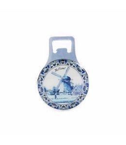 12 stuks Opener magneet metaal delftsblauw Holland