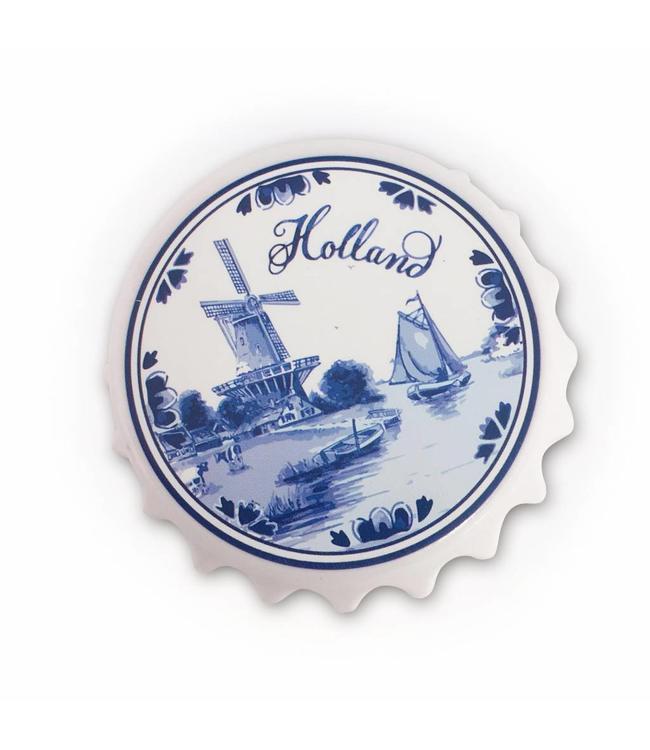 12 stuks openers Molen delftsblauw Holland