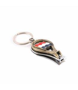 12 stuks Sleutelhanger nagelknipper vlag Holland brons