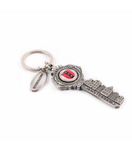 12 stuks Sleutelhanger sleutel grachten Amsterdam tin