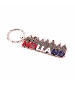 12 stuks Sleutelhanger dorp letters Holland koper
