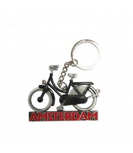 12 stuks Sleutelhanger fiets zwart Amsterdam tin