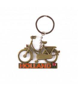 12 stuks Sleutelhanger fiets Holland brons