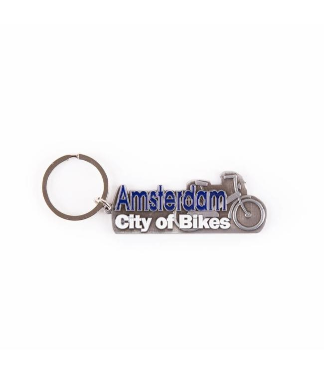 12 stuks Sleutelhanger city of bikes Amsterdam tin