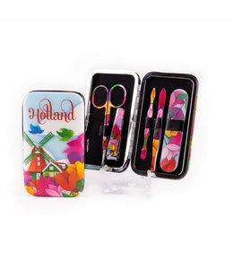 6 stuks Manicure setje tulp design Holland