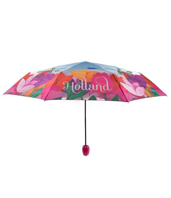 12 stuks Paraplu tulp design met molen Holland