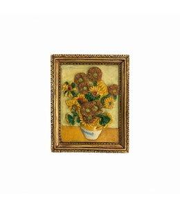 12 stuks magneet polystone Zonnebloemen - Vincent van Gogh