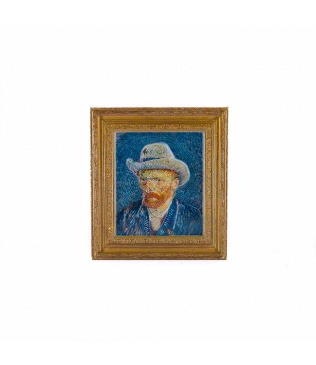 12 stuks magneet polyprint Zelfportret - Vincent van Gogh