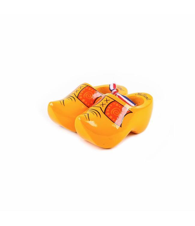12 stuks Houten klomp paar Holland boerengeel 10 cm