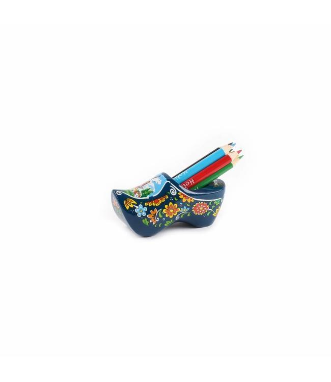 8 stuks Klomp met slijper en potloden Holland blauw