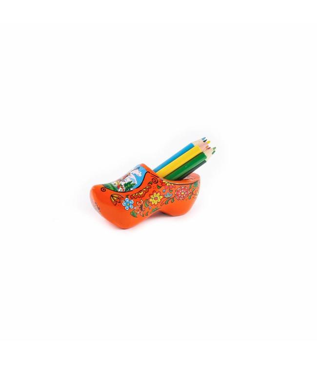 8 stuks Klomp met slijper en potloden Holland oranje