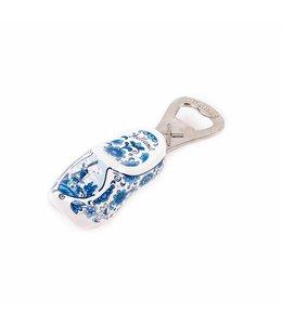 6 stuks Flesopener klomp Holland delftsblauw 8 cm