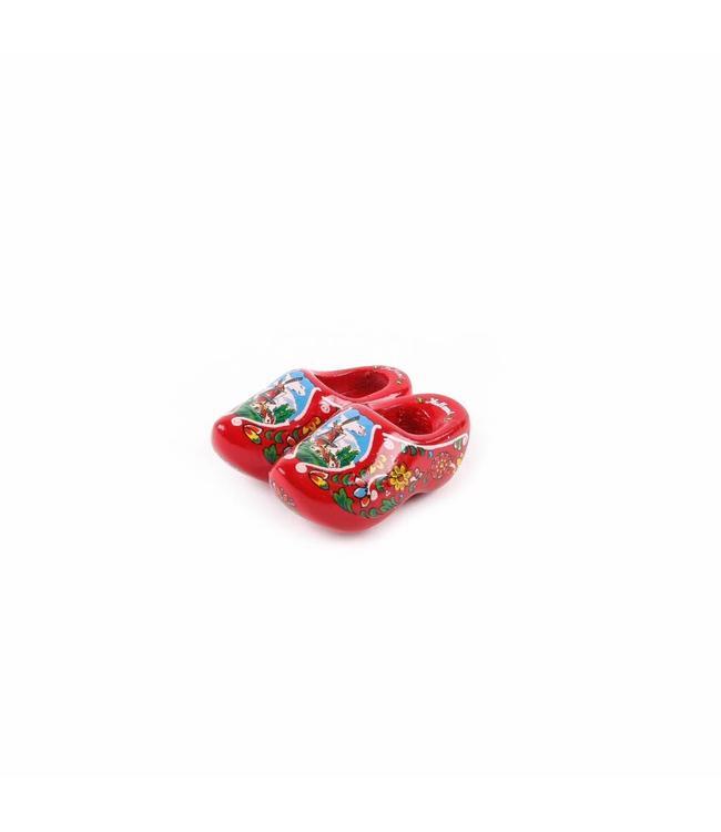 12 stuks Magneet klomp dubbel Holland rood 5 cm