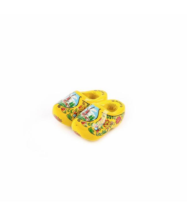 12 stuks Magneet klomp dubbel Holland geel 5 cm