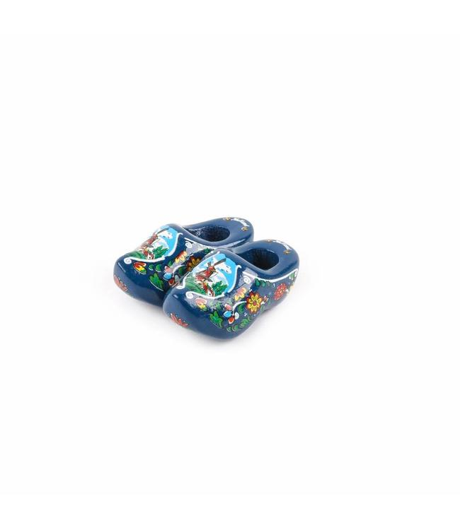 12 stuks Magneet klomp dubbel Holland blauw 5 cm