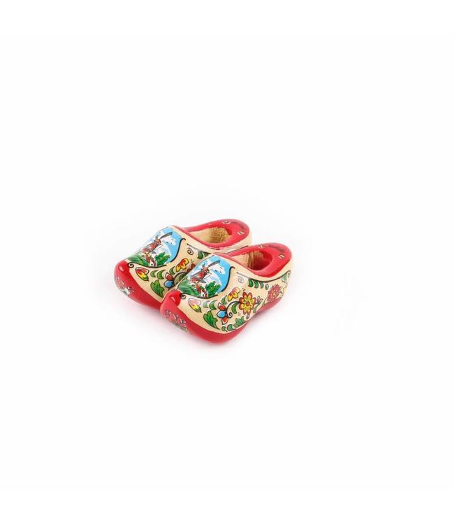 12 stuks Magneet klomp dubbel Holland rode zool 5 cm