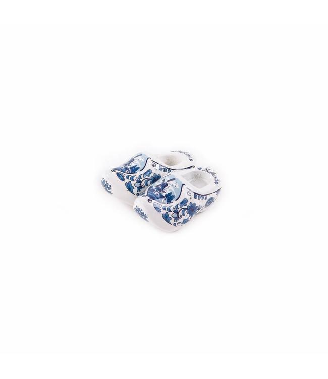 12 stuks Magneet klomp dubbel Holland delftsblauw 5 cm