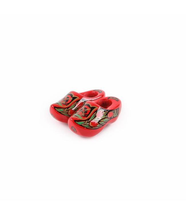 12 stuks Magneet klomp dubbel Holland  rood/goud 5 cm