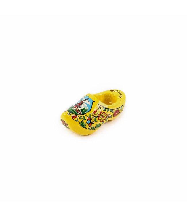 12 stuks Magneet klomp enkel Holland geel 6 cm